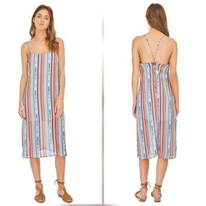 New ASTR the Label Rowan lace-up Striped Dress